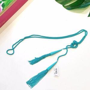 Kendra Scott Tassel Necklace Turquoise Phara NEW